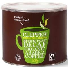 Clipper Tea - Medium Roast Decaf Organic Arabica Instant Coffee - 500g (Case of 4)