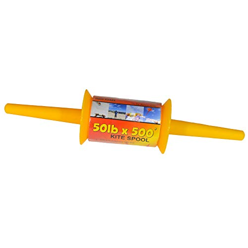 Clip Holder Team Paper - In the Breeze Best Selling Kite Spool - 50 LB x 500 Feet - Twisted Kite Line