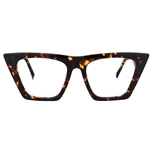 (Zeelool Stylish Cat Eye Glasses for Women Cecile FP0662-01 Leopard)
