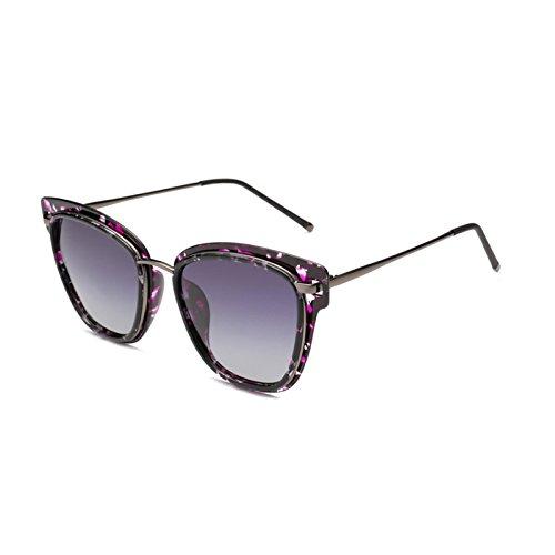Marca Fygrend Gafas p¨²rpura de de Sun P¨²rpura Original Gafas Imprimir polarizadas Ojos Sombras Grises Imprimir luneta de de Sol Luxury HD Grises Femenino vidrios Gato Mujer de TR90 8B17xrq8X