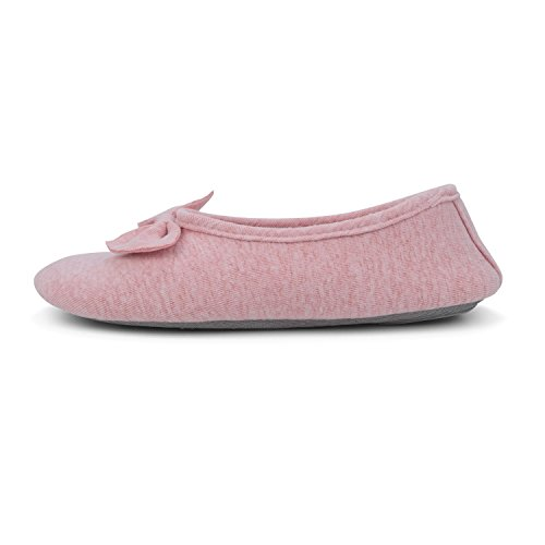 Slippers Elastic Cotton Shoes Skid Anti Bedroom With House Pink Bow Knot HomeDay Women's 5xnOZ58