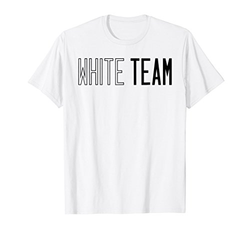 White Team T-shirt Competition Sports Games Event Camp - Camp Carnival Shirts