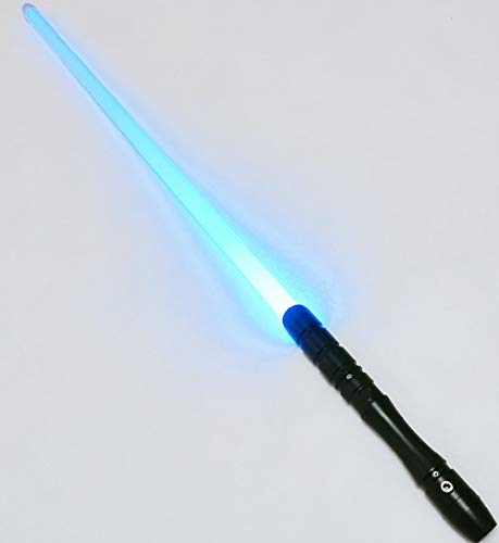 Lightsaber of Metal Aluminum Hilt, Color Changing Black Series LED Rechargeable Light Saber Force FX Heavy Dueling with Realistic Light and Blaster Sound, Gift for Kids and Adults--Black 028