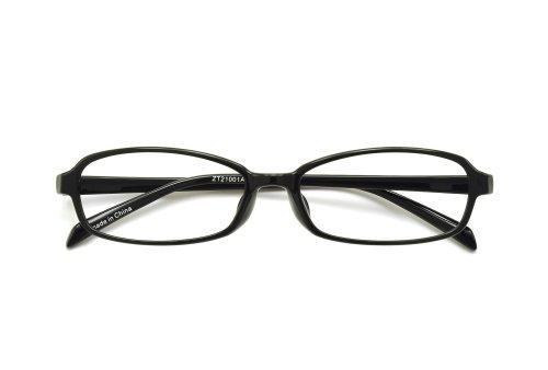 【Zoff PCクリアレンズ・パック】ブルーライトを効果的にカットするPCメガネ (度なし)(Shiny Black)