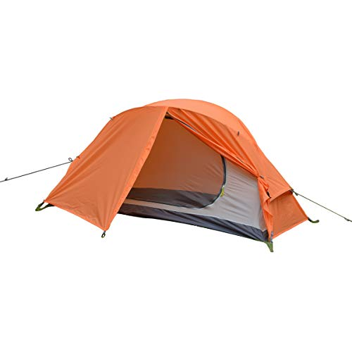ALLBEYOND Ultralight 1-Person 3 Season Waterproof Backpacking Tent Camping Lightweight Tent for Family,Outdoor,Hiking and Mountaineering (Orange, 1 Person)