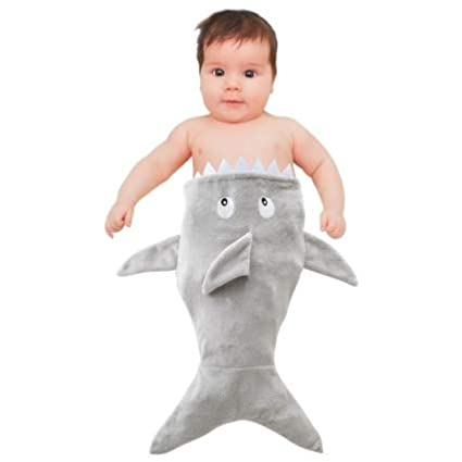 Adorable Super Soft Baby Blanket with Shark Design Grey Color Perfect for Gift Kids Toddlers blanket 98798