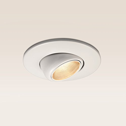 TORCHSTAR #High CRI90+# 6inch Dimmable Gimbal Recessed LED Downlight, 10W (75W Equiv.), ENERGY STAR, 2700K Soft White, 950lm, Adjustable LED Retrofit Lighting Fixture, 5 YEARS WARRANTY (Led Can Light Eyeball compare prices)