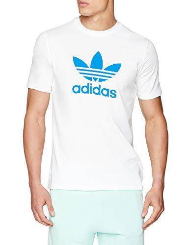 Homme Trefoil bluebird White shirt bluebird Adidas white Pull Manche T Sans Blanc AvYOdwqz
