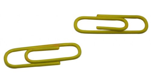 Yongshida Vinyl Coated Wire Paper Clips Color Yellow 1.1