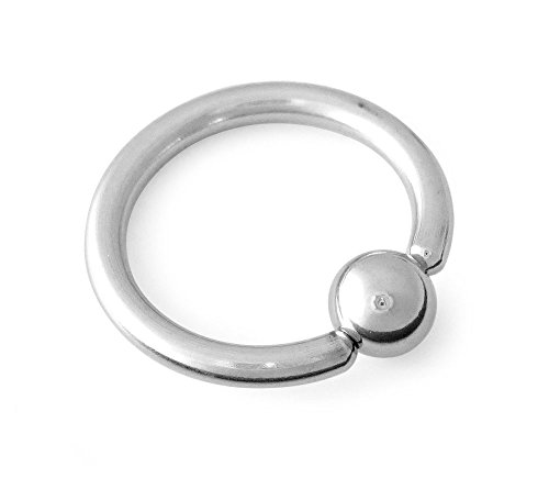 316L Surgical Steel Captive Bead Ring CBR 12g 5/16 (Ring Three Bead)