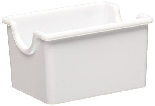 Winco PPH-1W Plastic Sugar Packet Holder, White - Sugar Caddies-PPH-1W ()