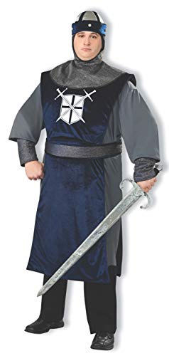 Forum Plus Size Knight of The Round Table Costume, Silver, Plus -