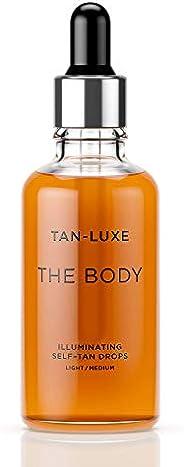 TAN-LUXE The Body - Illuminating Self-Tan Drops, 50ml - Cruelty & Toxin Free - Light/Me
