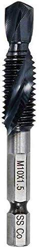 Bohrer Bohren 1 Stück M3 M4 M5 M6 M8 M10 Gewindebohrer Tialn-Beschichtete Hss-Gewindebohrer Handwerkzeugemetallbearbeitung Bohrhammerbohrer-As_Shown