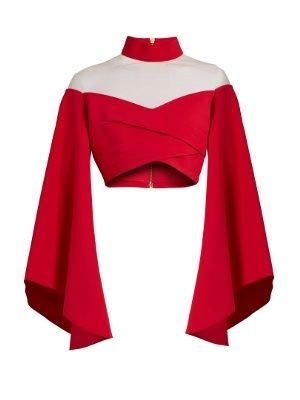 f304945ceda277 Plain Crop Tops Dark red  Amazon.in  Clothing   Accessories