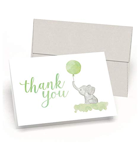 Beautiful Baby Shower Thank You Cards (Set of