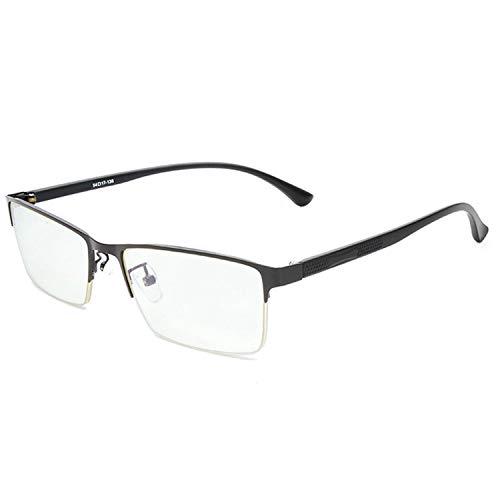 ANRRI Blue Light Blocking Computer Glasses Anti Eyestrain Anti Glare UV Fliter Lens Semi-Rimless Lightweight Frame Gaming Eyeglasses, Black, ()