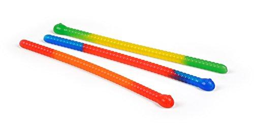 Fred SLINKY DRINKS Gummy Worm Straws, Set of 3