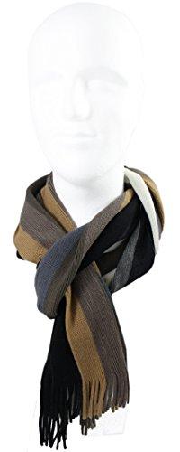 Rotfuchs Scarf - knitted, white brown 100% wool (Merino) by Rotfuchs (Image #2)