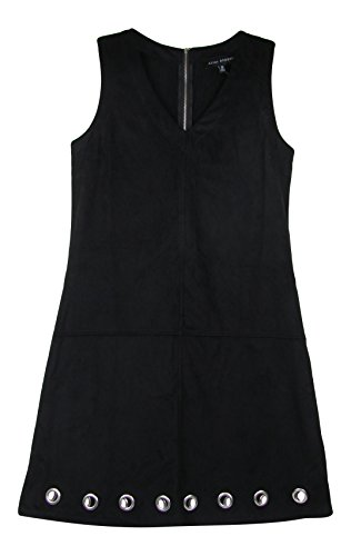 Alison Andrews Women's Faux Suede Grommet Dress (Small, Black)