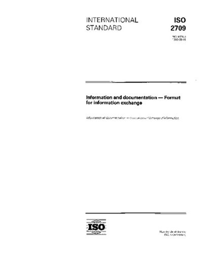 ISO 2709:1996, Information and documentation -- Format for Information Exchange