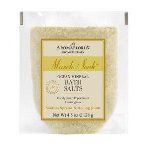 (Aromafloria Aromatherapy Collection Muscle Soak Salt Packette, Eucalyptus/Peppermint/Lemongrass, 4.5 Ounce)