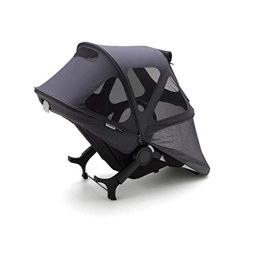 Bugaboo Donkey2 Breezy Sun Canopy, Stellar - Extendable Sun Canopy with Mesh Ventilation Panels, Made with Reflective Materials for Nighttime Strolling - Bugaboo Canopy Sunshade