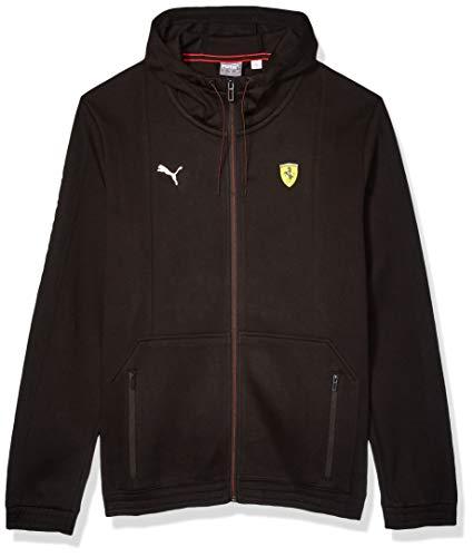 PUMA Men's Scuderia Ferrari Hooded Sweat Jacket, Black, ()