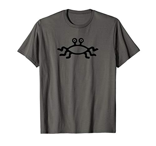 Flying Spaghetti Monster Fish Emblem T Shirt - For Atheists ()