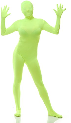 Green Man Always Sunny Costume (Adults Mens Womens Lime Green Always Sunny Bodysuit Costume XL 46-48)
