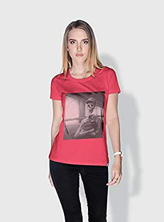 Creo School Bus Skulls T-Shirts For Women - L, Pink
