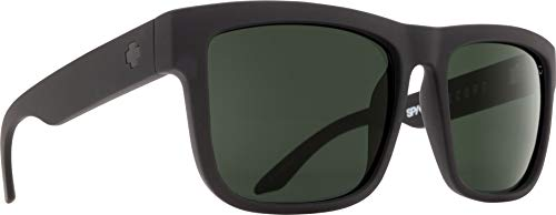 Spy Optic Discord Square, Soft Matte Black/Happy Gray/Green, 57 mm (Spy Wayfarer)