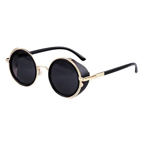 Pollyhb Men Womens Lens Round Glasses Cyber Goggles Steampunk Sunglasses Retro Vintage Round Frame Glasses Sunglasses,Sunglasses for Women UV Protection,Sunglasses for Men UV -