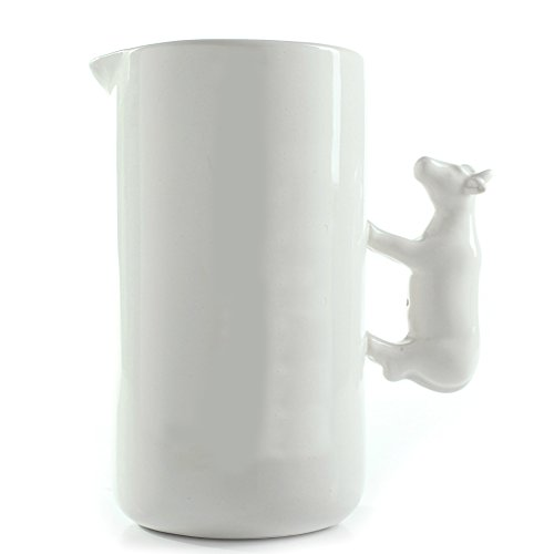 Glazed Ceramic Pitcher (Breakfast Milk Bottle Ceramic Serving Jug, Porcelain Pitcher And Creamer, Wedding Housewarming Gift,)