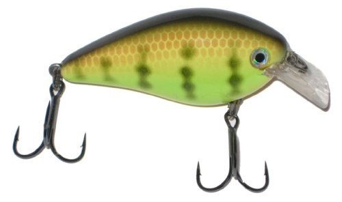 Strike King Square Bill 1.5 Crankbait, Chartreuse Perch, 7/16-Ounce