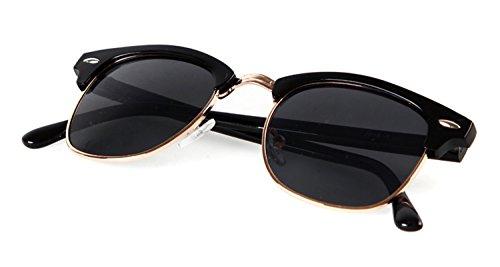 Flowertree Rb3016 Browline Sunglasses (glossy black+gray)