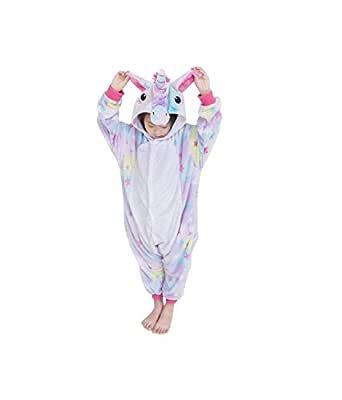 Size XL Childrens Blue Unicorn Costumes Animal Onesies Kids Homewear Pajamas