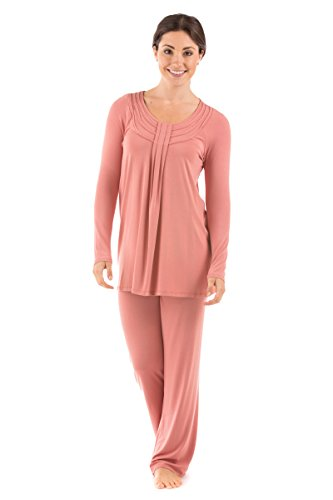 Women's Long Sleeve PJs in Bamboo Viscose (Replenish, Canyon Clay, X-Large) for Women WB0006-CCL-XL (Jeans Canyon Petite)