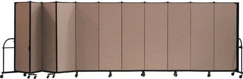 (Screenflex Heavy Duty Portable Room Divider (HFSL6011-DO) 6 Feet High by 20 Feet 5 Inches Long, Designer Walnut Fabric)