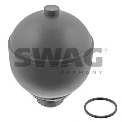 SWAG Rear Axle Pneumatic Suspension Sphere Fits CITROEN Xantia Xm 96045530