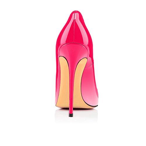 Aiguille uBeauty Blanc Femmes Chaussures Stilettos Femme Taille Grande Chaussures rose Talons Escarpins Talon q4XqHr