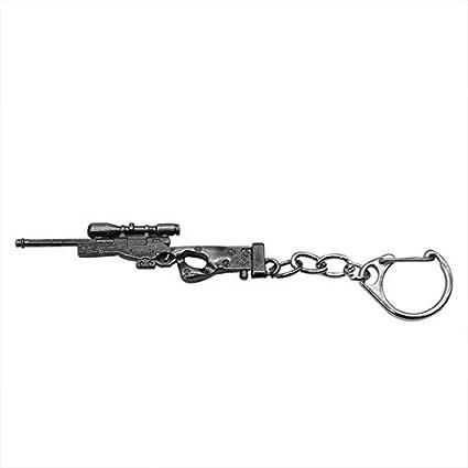 3D simulación Pistola Colgante Llavero Hombres Frescos Arma ...