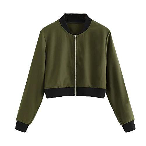 Women Jackets Duseedik Short Coat Stand Collar Casual Baseball Overcoat Jersey Zipper Outercoat Outwear Sweatshirts Cardigan
