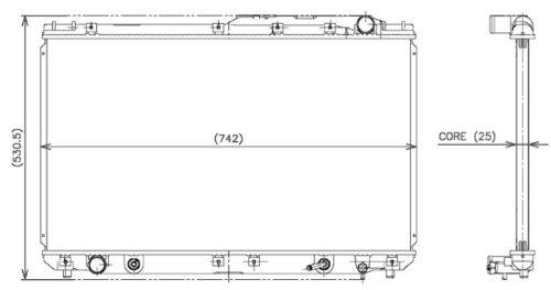Denso 221-3109 Radiator