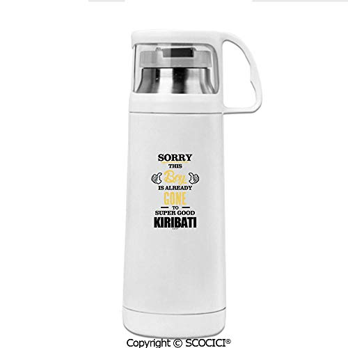 SCOCICI Thermos Cup Sorry This Boy Is Already Gone To Super Good Kiribati Double Wall Stainless Steel Vacuum Insulated Water Bottle Keeps Your Drink Hot & Cold 12 OZ (350 ML)