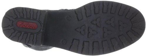 Rieker Y0480-00 Damen Halbschaft Stiefel Schwarz (schwarz/anthrazit / 00)