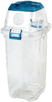透明ゴミ箱 セキスイ 透明エコダスター 45L ビン用 青 TPDR45B 4個入