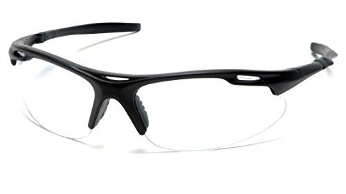 (Pyramex Safety Avante Eyewear, Black Frame, Clear Lens)