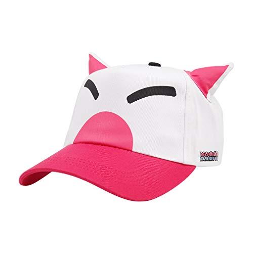 Unisex FF15 Carnival Choco-Mog Baseball Cap Pink Chokobo Mog Cartoon Snapback Hat -