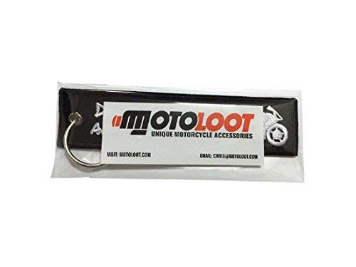 Moto Loot Keychain for Motorcycles, Scooters, Cars and Gifts (Drop a Gear and Disappear)